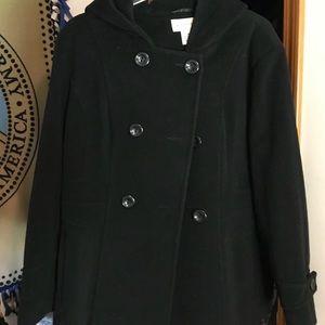 St. John's Bay hooded pea coat